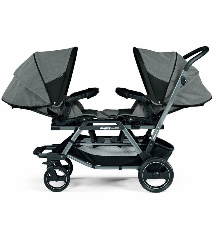 The Peg-Perego Duette Piroet is a versatile double stroller that offers numerous seating positions for twins or siblings of different ages. Parents can mix and match infant car seats, bassinets and stroller seats, and reverse them so that children face them, each other or the road ahead. The Duette Piroet folds compactly with stroller seats attached (and even more so with the seats detached).