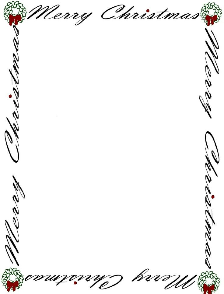 20 best Printable Winter Paper images on Pinterest Printable - christmas letter format