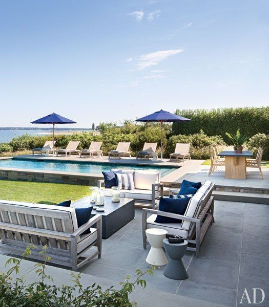Outdoor, Pool Verdigris Vie: The Modern Hamptons
