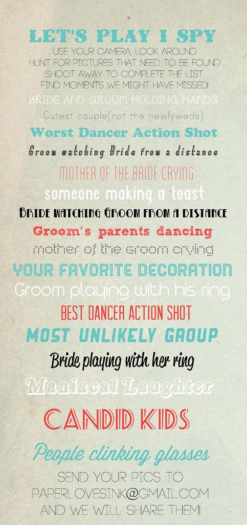 Wedding. Games for kids