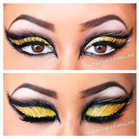 Augen Make-up Biene