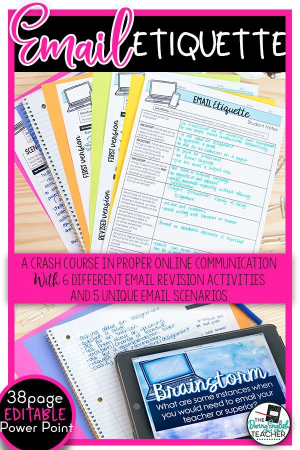 Email Etiquette: How to Write an Email to Teachers PowerPoint and