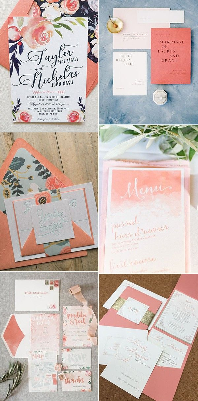 Pantone Color Of The Year 2019 26 Living Coral Wedding Ideas Emmalovesweddings Coral Wedding Invitations Orange Wedding Invitations Coral Invitations