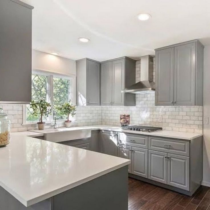 Best 50 Outstanding Kitchen Backsplash Ideas Gray Cabinets 640 x 480