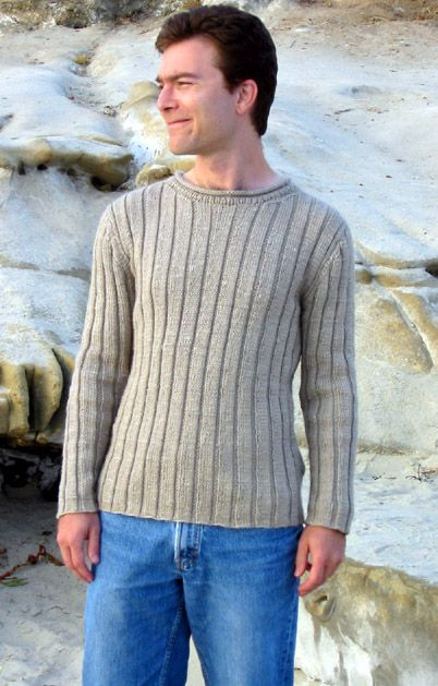 knitty.com men's knit sweater pattern #freeknitsweaters