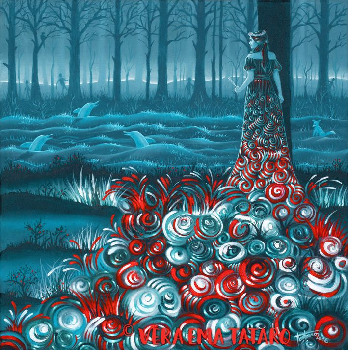 Tuning of the world - acrylic painting on canvas by Vera Ema Tataro