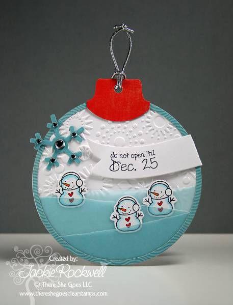 Snowman Christmas Tag