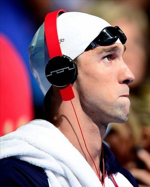 Michael Phelps wearing Tracks Over Ear Headphones by SOL Republic