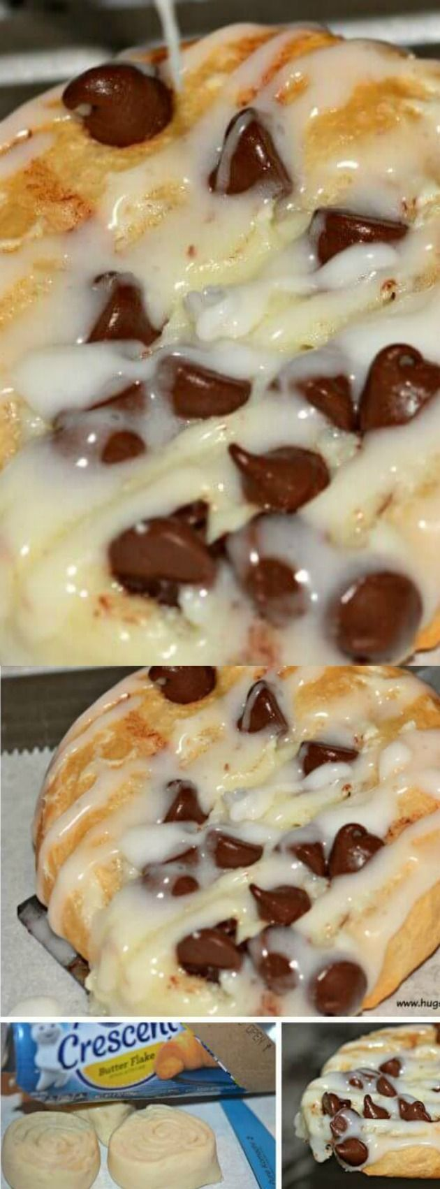 These Easy Chocolate Chip Cheese Danish from Hugs and Cookies XOXO make the perfect Saturday morning breakfast for your family! (Paleo Chocolate Chip)