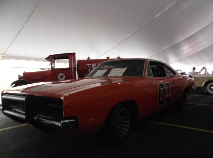 Steve Hopkins General Lee. one of the original promo cars for the first movie. Iola WI (Iola Old car show) 7-8-16