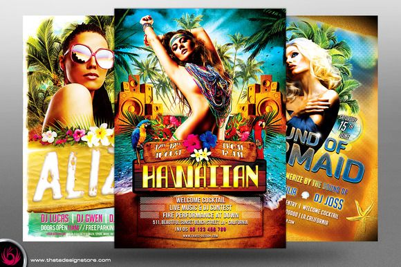 Beach Party Flyer Bundle V2 by Thats Design Studio on Creative Market