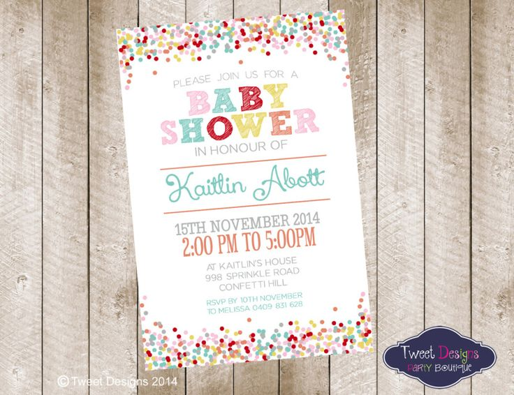 13 best Baby Shower Invitations and Birth Announcements images on - baby shower invitation