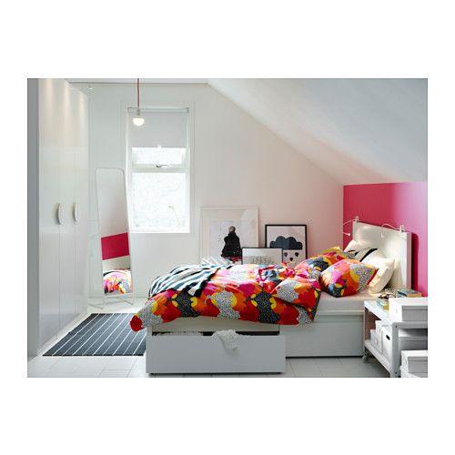 MALM Cadre de lit+2boîtes de rangement - 160x200 cm, - - IKEA