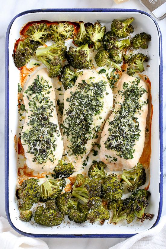 One Pan Parmesan-Crusted Chicken with Broccoli is so easy and tasty – and the best part, it's made all on one sheet pan which means easy clean up!