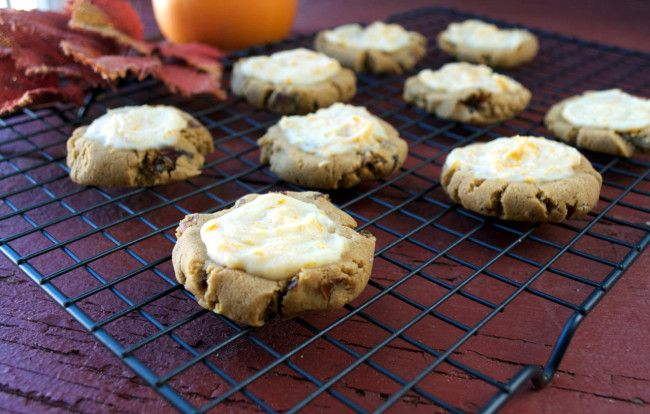 Paleo, Vegan Pumpkin Cookies with Orange Glaze | Plaid and Paleo