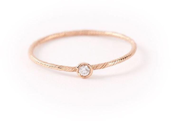 Wouters & Hendrix Gold single diamond ring ($357)