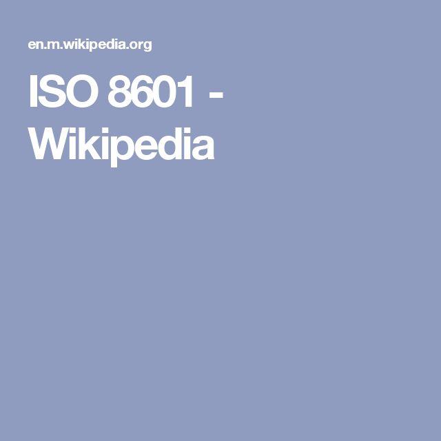 ISO 8601 - Wikipedia