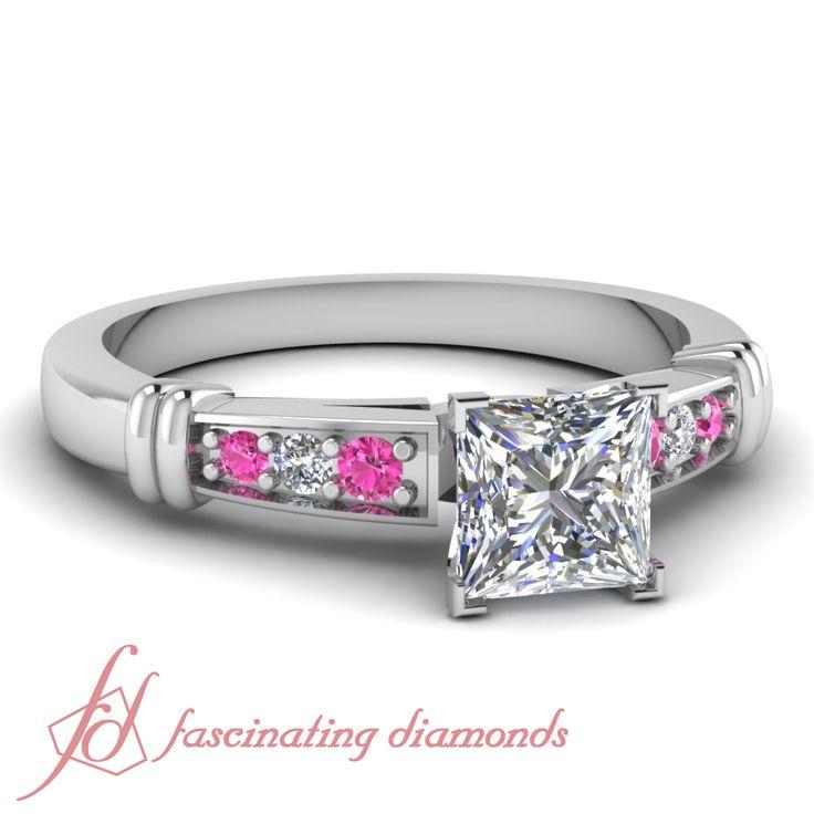 80 ct princess cut pink sapphire modern