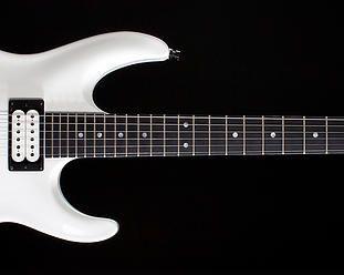 Front view of V25-FR guitar
