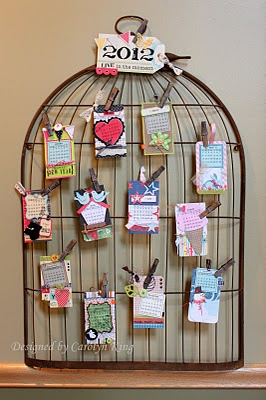 wire bird cage display, pin book covers to display