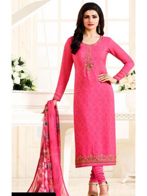 Charming Rose Pink Prachi Desai Salwar Suit