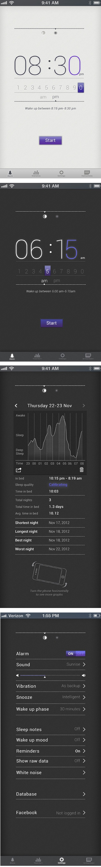 Sleep App UI