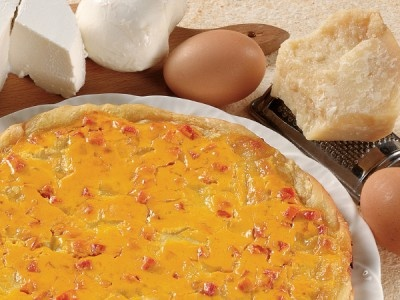 Torta Salata di Ricotta Mozzarella e Prosciutto allo Zafferano