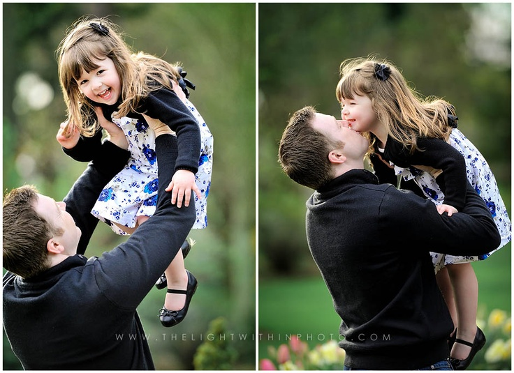 I love dad/daughter photos.