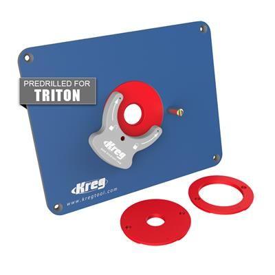 Precision Router Table Insert Plate: Predrilled for Triton Routers