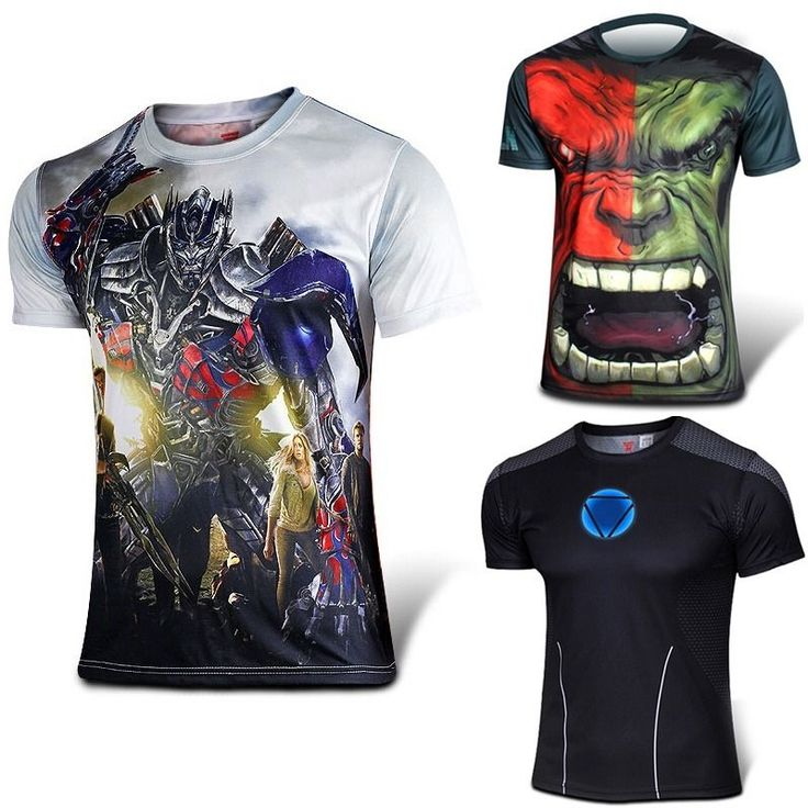 fashion man Superhero Costume dry fit T-shirt Long Sleeve Short Jersey T001T002 #yoyojewellery #BasicTee