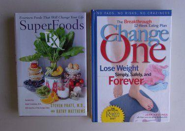 Healthy Eating Weight Loss Book Lot uper Foods RX & Change One Readers Digest Diet Hardcover www.treasurefair.ecrater.com