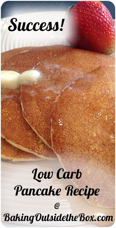 #BakingOutsidetheBox | The key to these low carb pancakes are almond flour and ricotta. Make it up in the blender quickly. Just over 1 net carb er pancake.