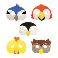 Masques de fête Oiseau - Set de 5