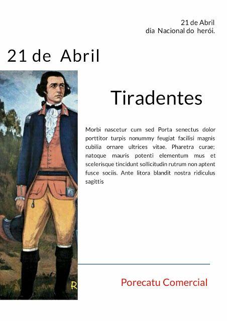 COMERCIAL PORECATU: Dia  21 de abril Tiradentes