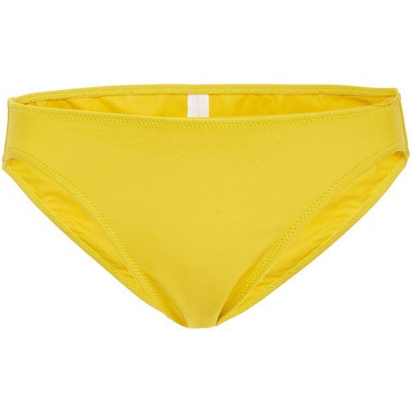 Araks Enil Full Bikini Bottom (330 BRL) ❤ liked on Polyvore featuring swimwear, bikinis, bikini bottoms, yellow, yellow swimwear, bottom bikini, yellow bikini bottoms, yellow bikini and bikini bottom swimwear