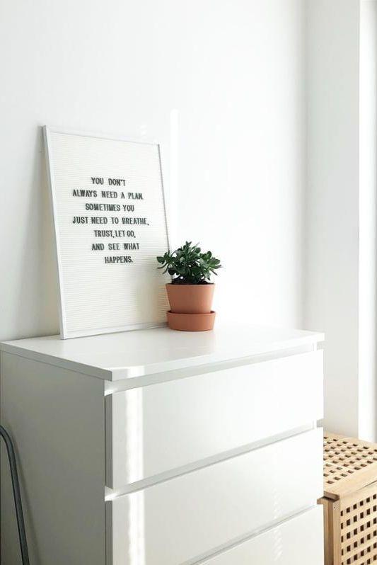 Ikea Malm Kommode Dekorieren Dekoration Wohndesign