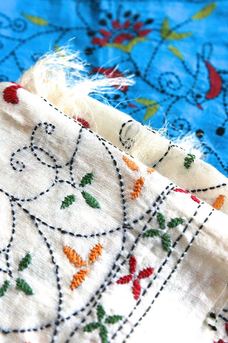 Traditional kantha work on silk!    #kantha  #silk