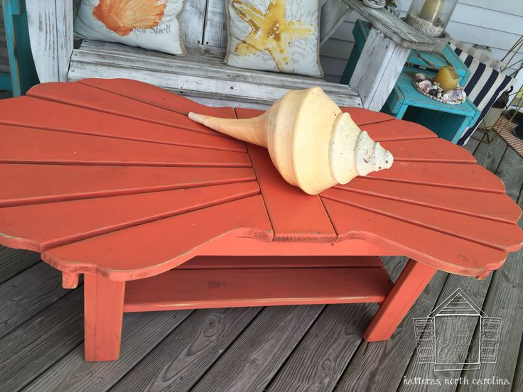 Double Scallop Coffee Table By This Little Cottage OBX. Hatteras, North  Carolina.