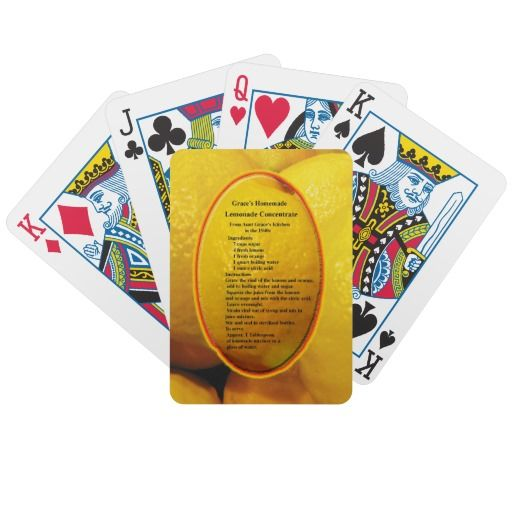 Lemonade Playing Cards #play #games