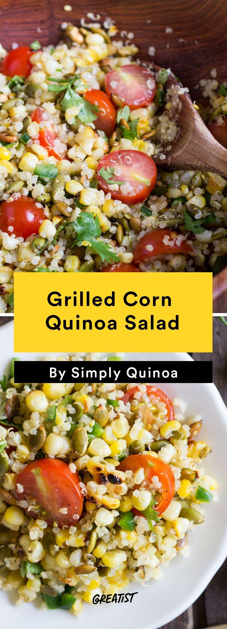 5. Grilled Corn Quinoa Salad #Healthy #Quinoa #Salads http://greatist.com/eat/quinoa-salads-we-cant-wait-to-dig-into