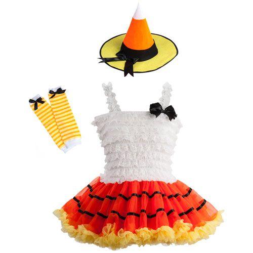 Candy Corn Witch Tutu Costume