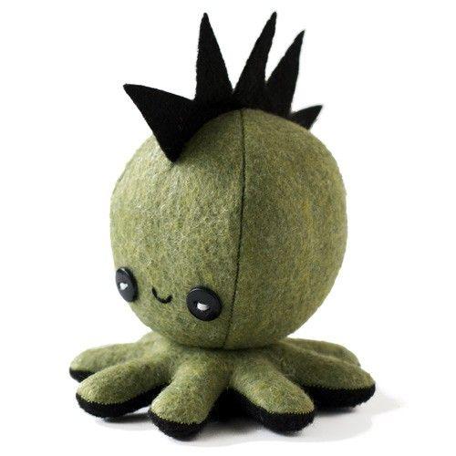 Handmade Gifts   Independent Design   Vintage Goods Octo-Plushie - Punk Rocktopus! - I love tentacles