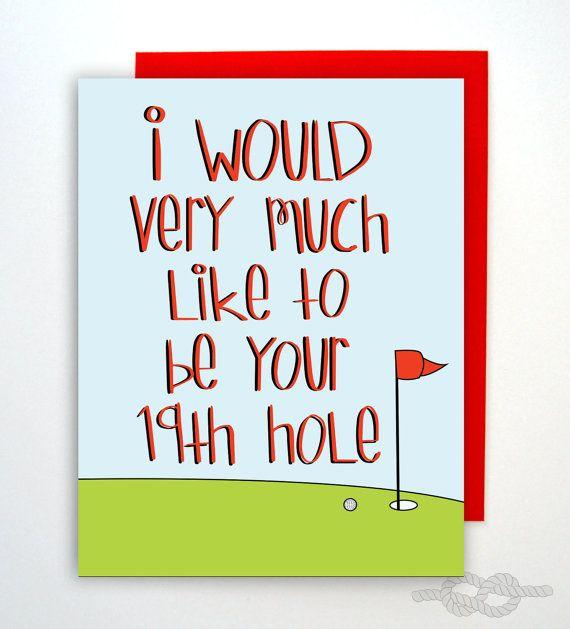 Grappige ondeugende Card verjaardagskaart Golf Card door KnottyCards