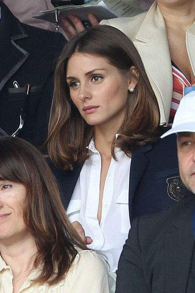"""Olivia Palmero, socialite and former MTV reality star from MTV's """"The City,"""" attends Centre Court at Wimbledon during day 9."""