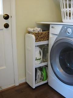 tolle idee: Platte über die Maschine und einen Auszug für Waschmittel daneben