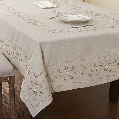 Regtangular Hemstitched Linen Tablecloth – AUD $ 30.32