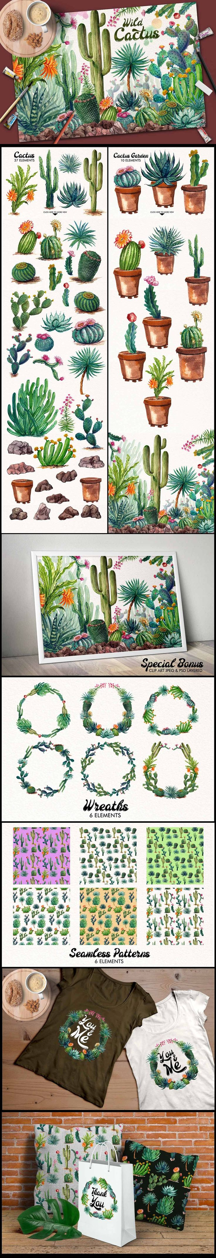 Wow...I really like this long infographic!  The cactii are beautifull too. ....Watercolor Cactuses by iGRAPHOBIA on @creativemarket