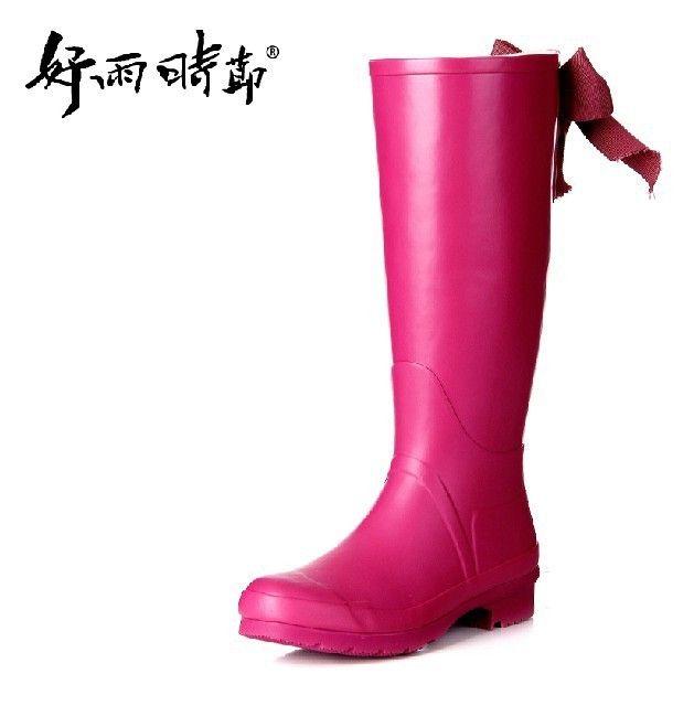 49 Frete grátis! Bow tie moda mulheres chuva botas botas de chuva/mulheres botas/sapatos de água/botas 3 cores