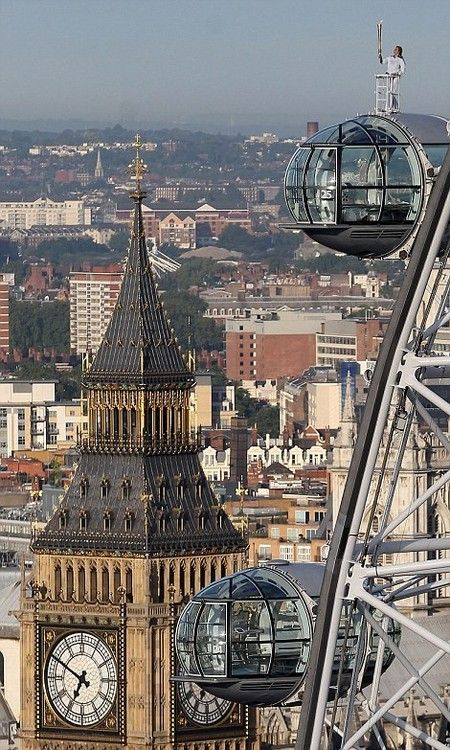 London...The torch...on top of the London Eye...Amazing picture