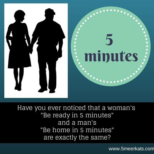 5 minutes, ha ha #funny